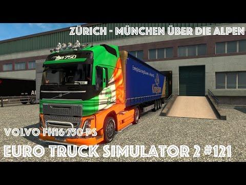 ETS2 #121 Patch 1.27|Zürich - München über die Alpen|Volvo FH16|ohne promods map  [German|HD]