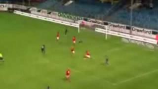 Randall Azofeifa y Roberto Rosales (Copa UEFA.. KAA Gent - Kalmar FF)