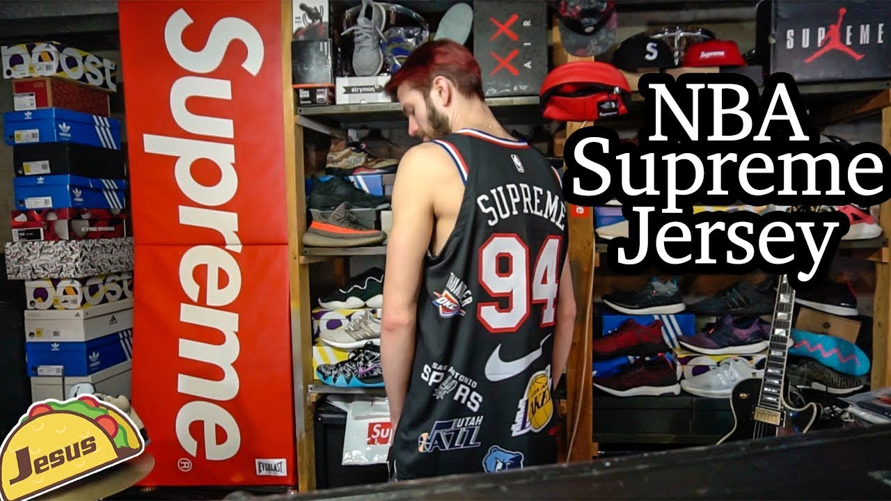 newest ba475 b362d NBA ® Nike ® Supreme ® Jersey review + Pharrell Holi L vlog + Adidas ultra  boost clima COP
