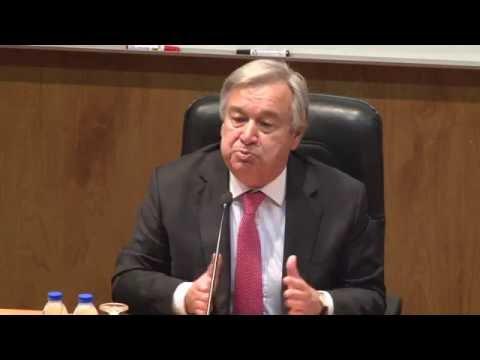 António Guterres - A Situação Internacional e os Movimentos Forçados de População