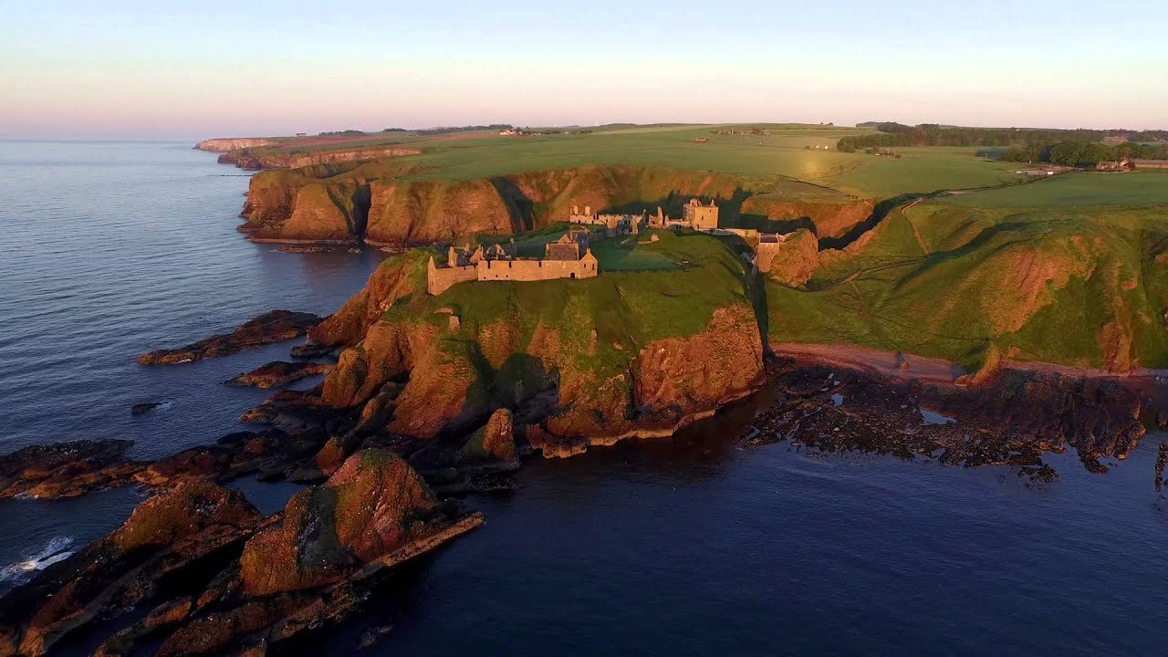 DJI Inspire 1  Dunnottar Castle, Scotland  4K  YouTube