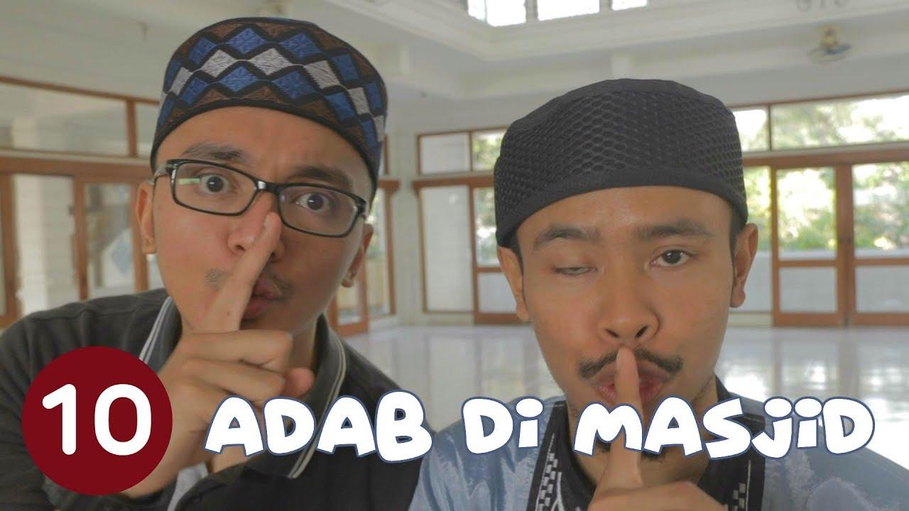 10 Adab Di Masjid Sketsa Lampu Islam Youtube