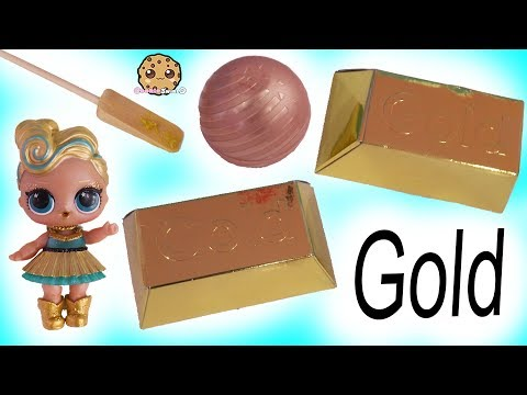 Giant Gold Dig ! LOL Surprise Doll Luxe Digs for Gold - Cookie Swirl C Video