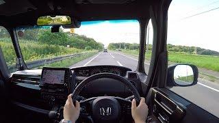【Test Drive】 2017/2018 New Honda N-BOX Custom Turbo Honda Sensing 4WD - POV City Drive