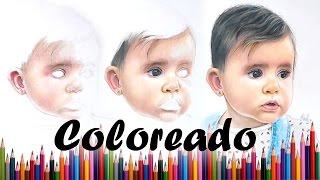Como colorear un rostro realista con lapices de colores | Tutorial
