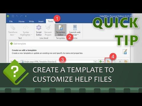 Create A Custom Template For HTML Documentation Web-sites Using HelpNDoc