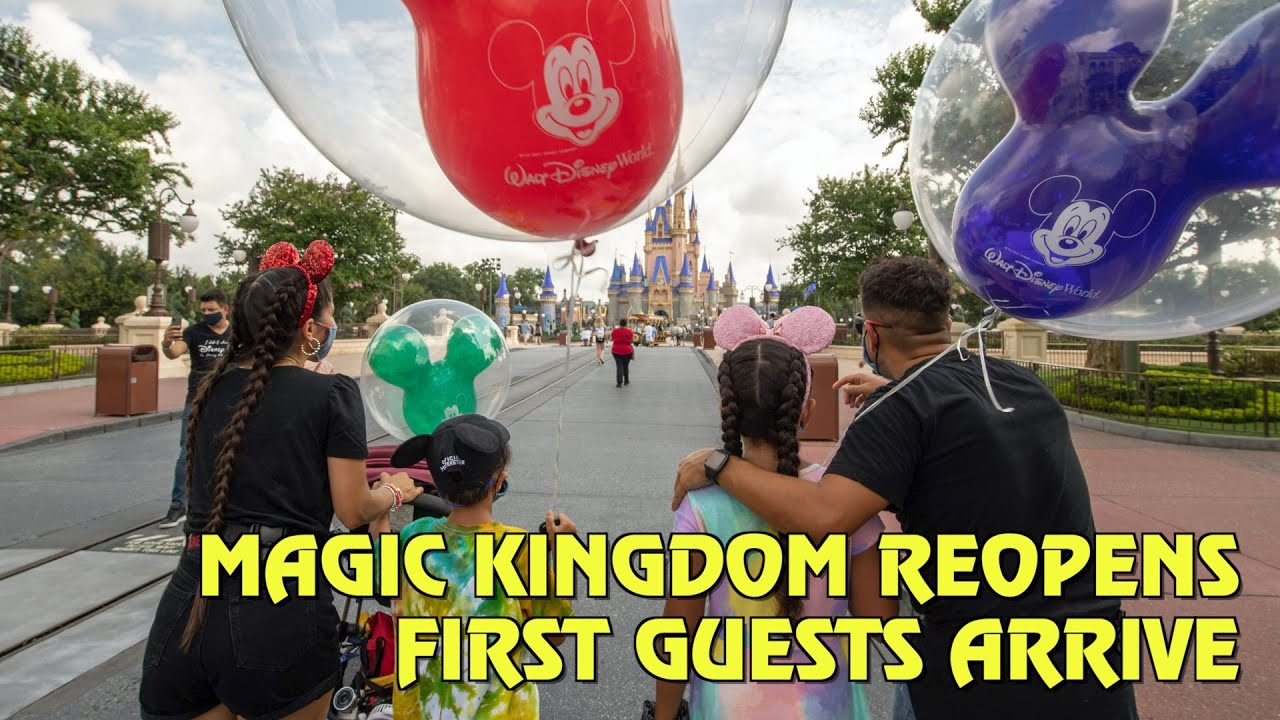 First Guests Enter Magic Kingdom as Walt Disney World Reopens in Florida