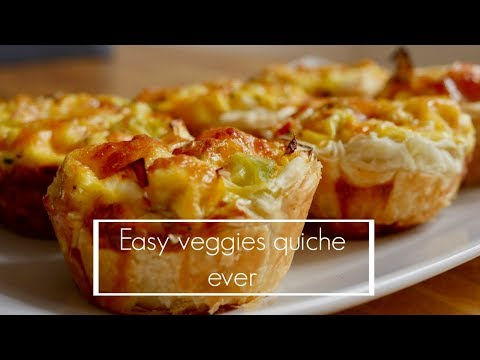 How To Make Basic Veggie Quiche/Easy E Delicious Quiche