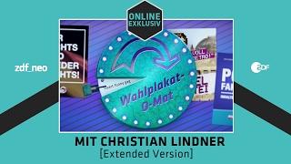 Wahlplakat-O-Mat mit Christian Lindner [Extended Version] | NEO MAGAZIN ROYALE mit Jan Böhmermann