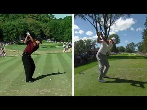 Tiger Woods, Adam Scott swing comparison