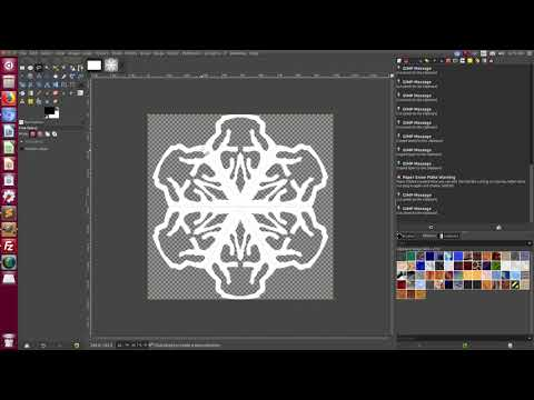 Paper Snow Flake plug-in in GIMP thumbnail
