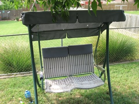 How to Replace a 2 Seat Patio Swing Cushion Walmart Model RUS4860