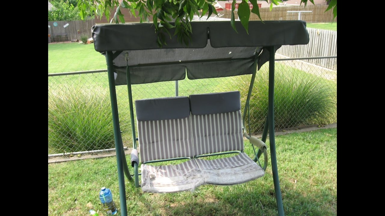 Patio Swing Cushion Replacement How To Replace A 2 Seat Patio Swing Cushion Walmart Model Rus4860
