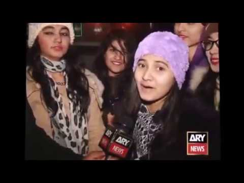 lahori girl remarks on murree snow fall