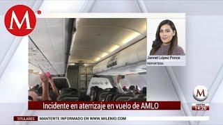 Falla aterrizaje de vuelo de AMLO y demora su llegada a Tepic
