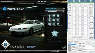 Vinyl Manager hack 2.0 demonstration (Need For Speed World)