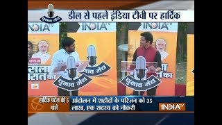India TV Chunav Manch: BJP tells lie, loudly and repeatedly, says Hardik Patel