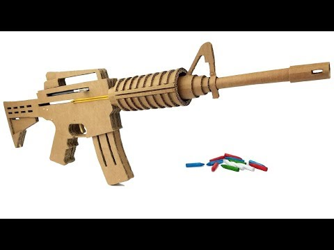 How To Make Cardboard M4 That Sh00ts