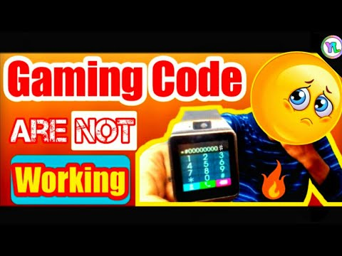 Gaming Codes Are Not Working In DZ09 Smartwatch | Codes Not Working In A1 , V8 , Gt08 | You Look