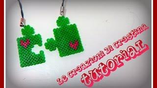 Tutorial Tessere Puzzle con Hama beads mini - San Valentino Charm - www.perlinedastirare.it