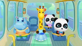 Baby Panda School Bus  Go Shopping Kids Cartoon game  PART =1  BabyBus Game.  #Top2Top #gameplay