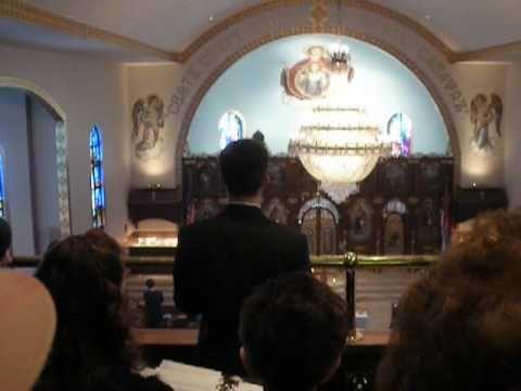 Oce Nas (The Lord's Prayer) by George Milosh in St. Elijah Serbian Orthodox Church in Aliquippa, PA