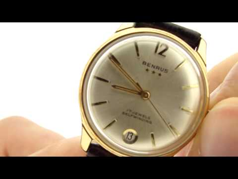 Benrus 3 Star Vintage Self-Winding Watch