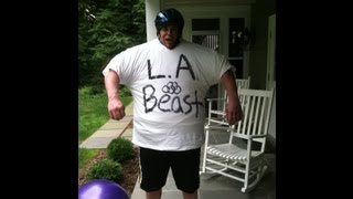 putting on 72 t shirts with the l a beast