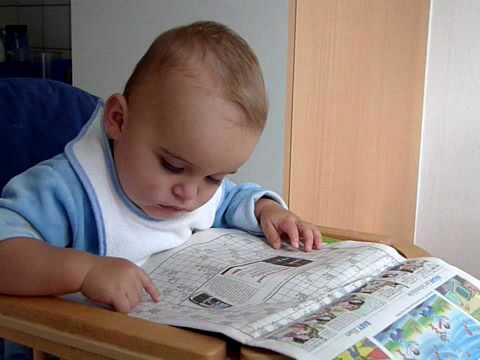 Niki liest Zeitung