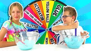MYSTERY WHEEL OF SLIME CHALLENGE!!!