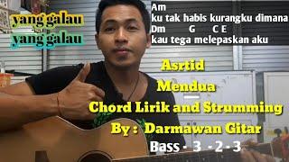 Chord Mudah ( Astrid  - Mendua ) By  Darmawan Gitar ( Versi Petikan )