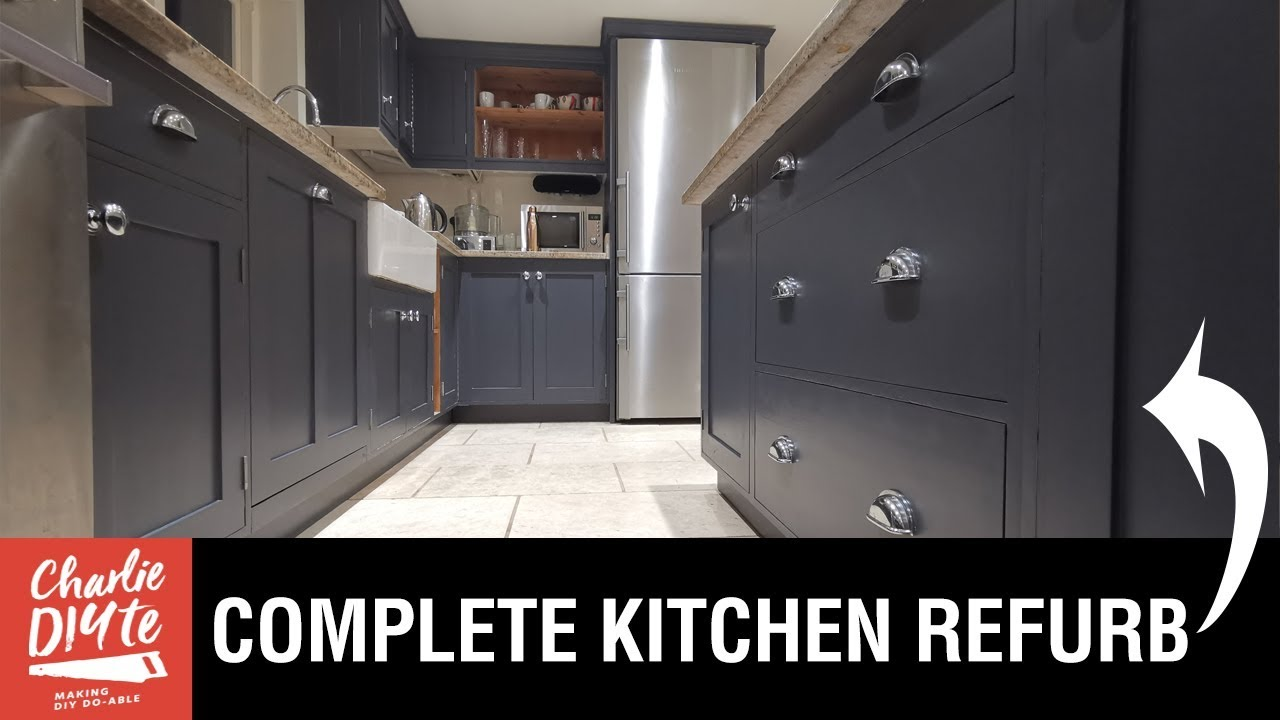 Kitchen Makeover How To Paint Cabinets Fit New Knobs And Cup Handles Youtube