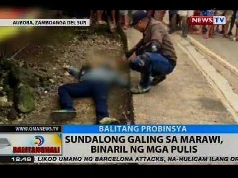 BT: Sundalong galing sa Marawi, binaril ng mga pulis