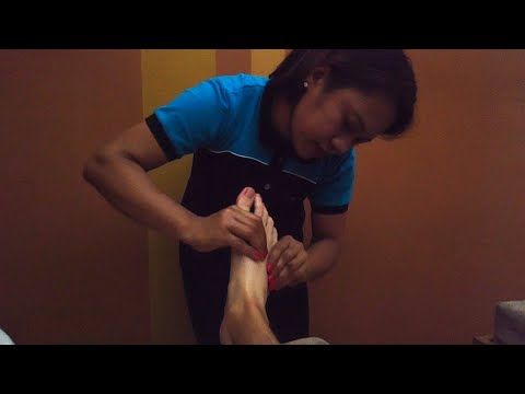 ASMR Reflexology Foot Massage - No Talking