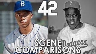 42 (2013) - scene comparisons