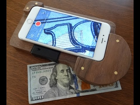 Iphone Macro Lens Stand - Epoxy and LED lights