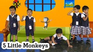 THE BEST Songs for Children Five Little Monkeys | RR International School CBSE