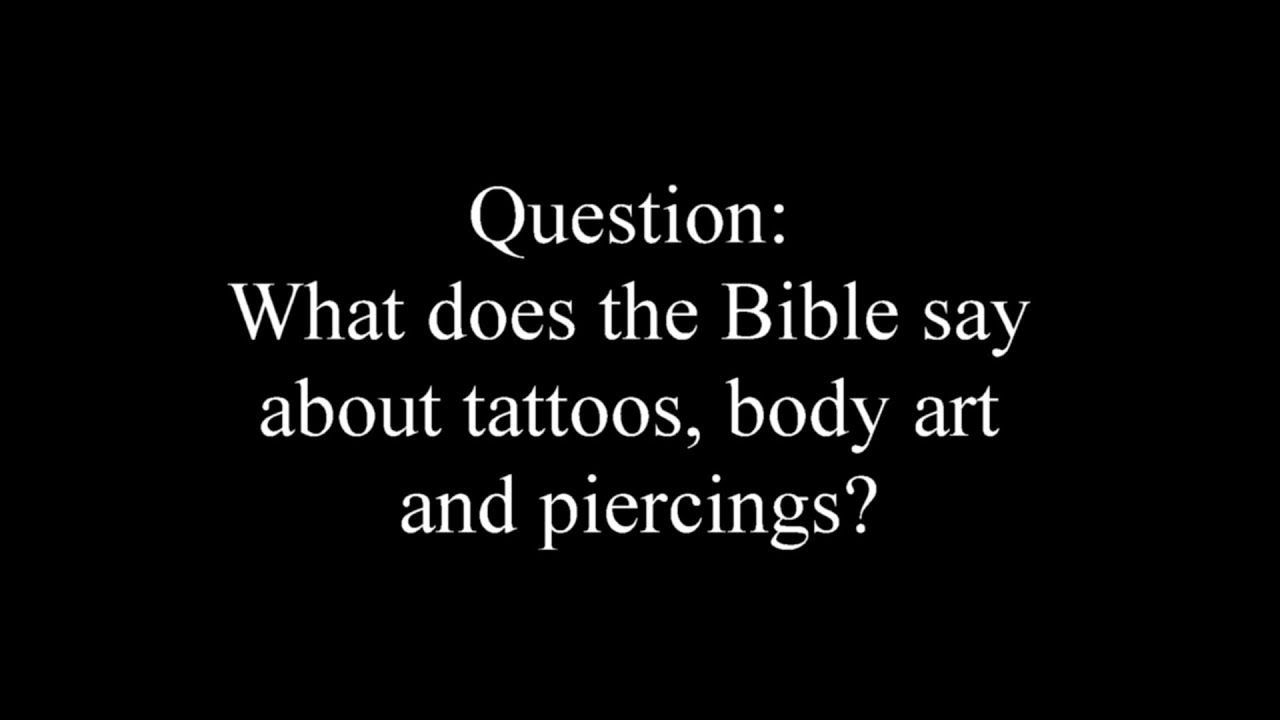 what does the bible say about tattoos on the body