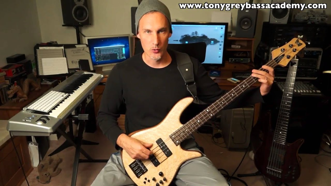 Bass guitar lesson | Technique Building - Tony Grey