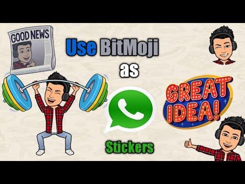 Use your Bitmoji as WhatsApp stickers|| Whatsapp Trick