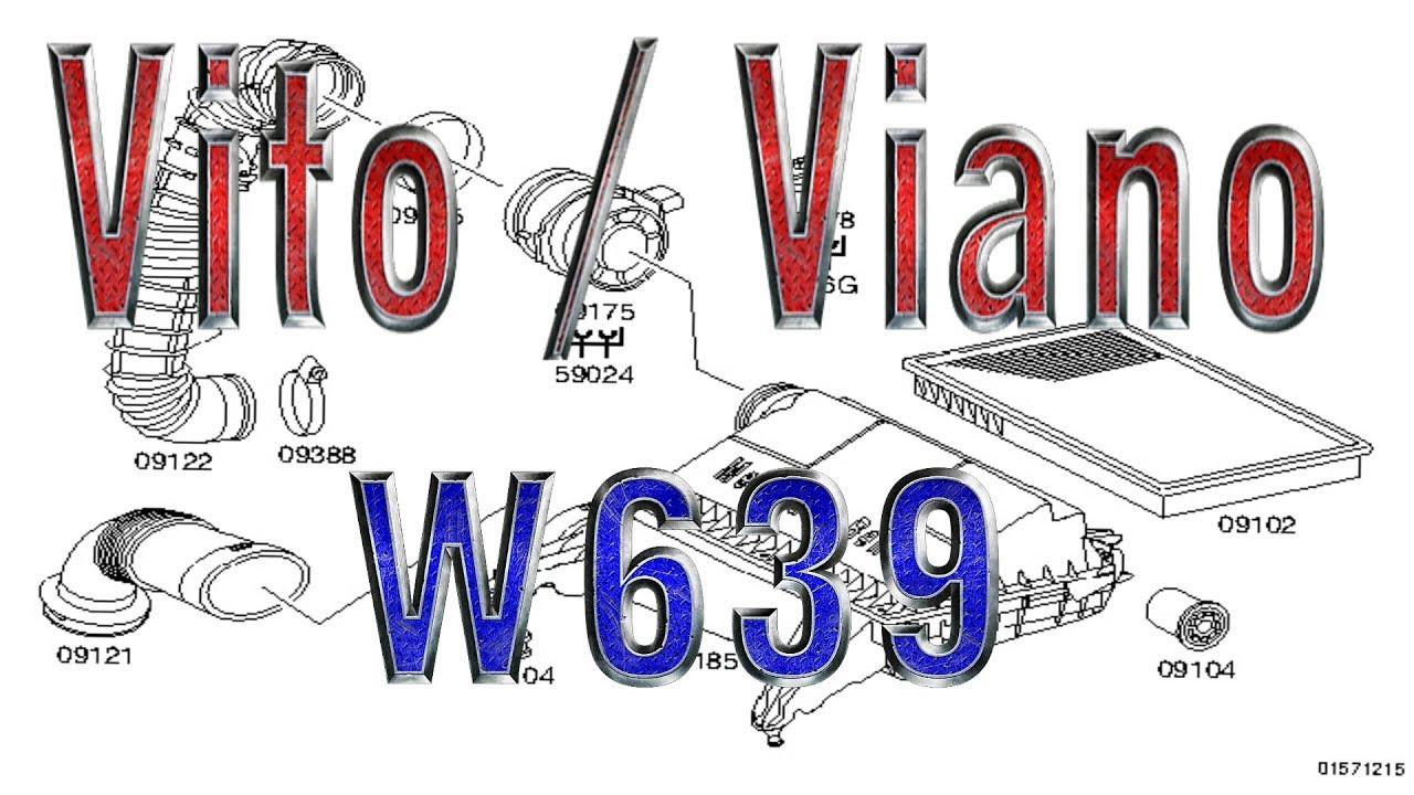 Vito/Viano (W639) | Air filter, OM651, OM646, OM642, M272, M112
