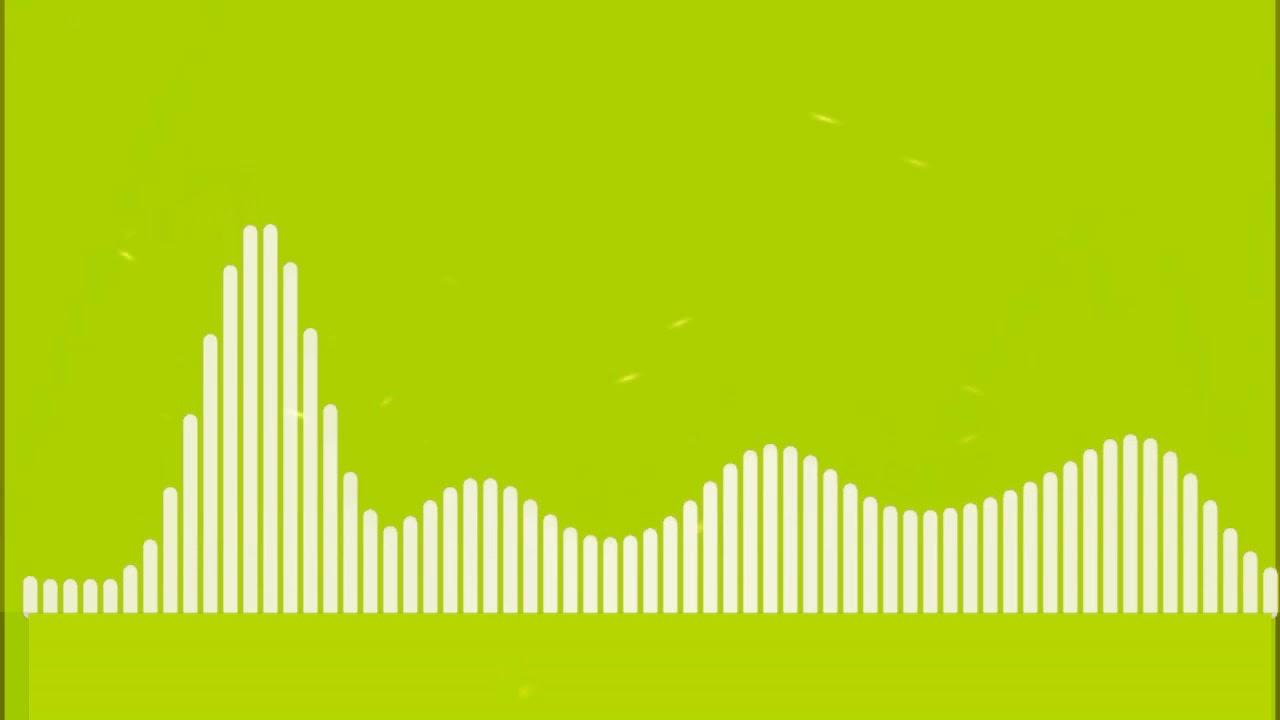 Audio Spectrum Visualizer Green Screen HD