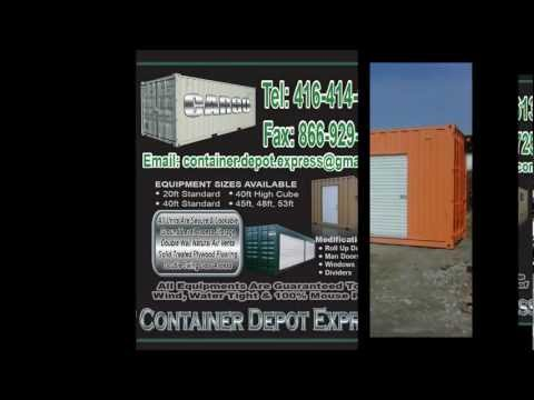 Toronto Steel Storage Shipping Container, Sea Containers, Ontario Shipping Container