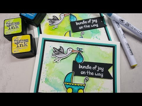 Neutral Baby Cards with Lawn Fawn Plus One
