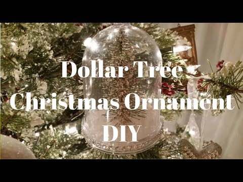 Dollar Tree Christmas Ornament DIY