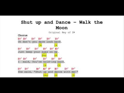 Shut Up And Dance Walk The Moon Music Notes Youtube