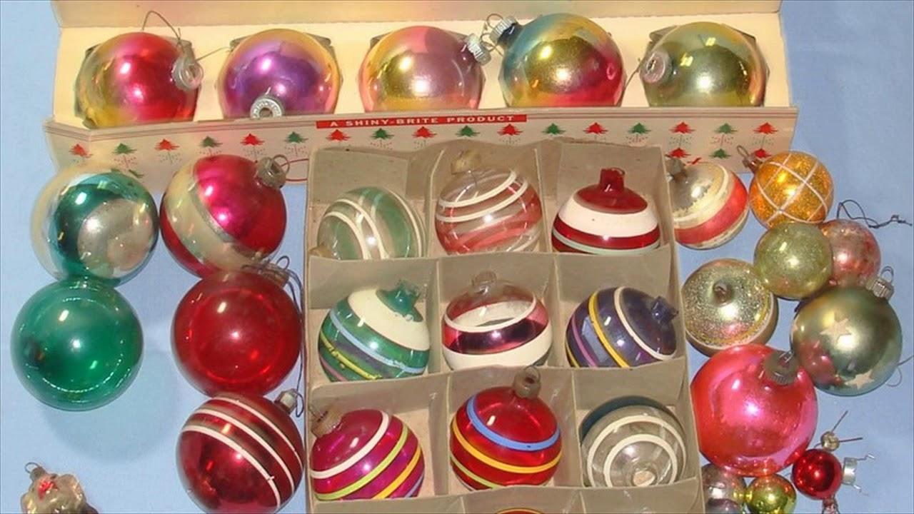 Vintage Christmas Decorations 1950s.Vintage Christmas Decorations 1950s Ornaments