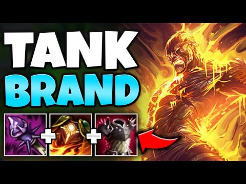 FRONT LINE AS A MAGE?! TANK BRAND CAN MELT EVERYONE AND NEVER DIE - League of Legends