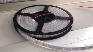 Video: DC12V LED strip 5730 SMD 60LED/m Flexible Light Ribon 5M 300LEDs