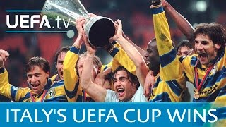 Highlights: Italy's nine UEFA Cup triumphs